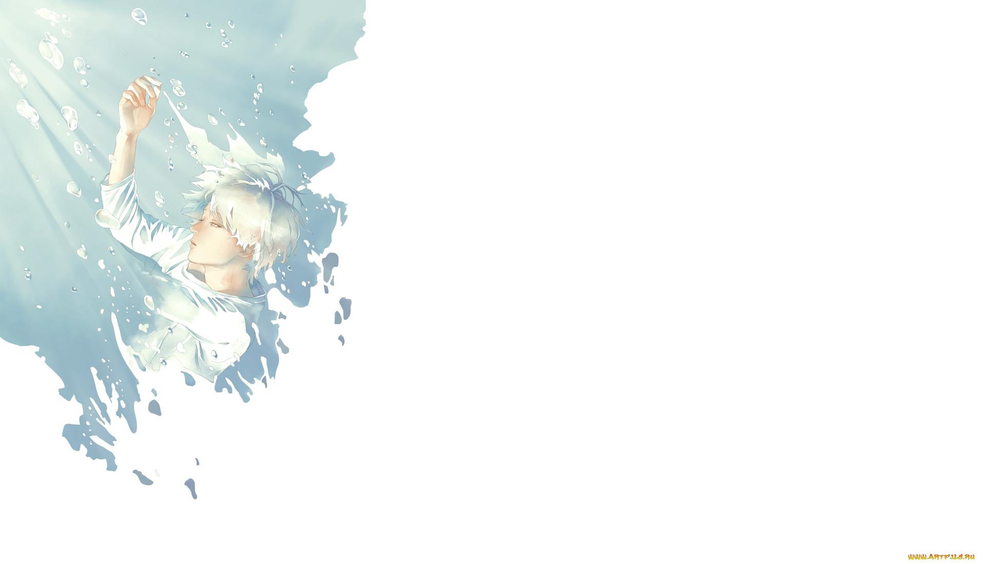 аниме, unknown,  другое, арт, re, парень, вода, пузыри